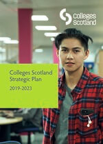 Colleges Scotland Strategic Plan 2019-23 cover image